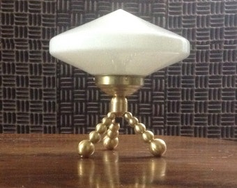 saucer tripod table lamp, 8 1/2 pounds, made from all stock parts