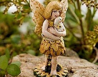 Miniature Dollhouse FAIRY GARDEN ~ Lucky Duck Fairy  ~ NEW