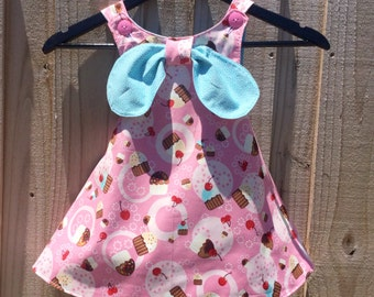 Girls Sweet Treats Reversible Pinafore 12M 18M 2T 3T 4T