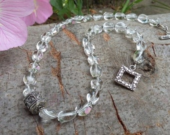 Clear Quartz (Rock Crystal), .925 Sterling Silver, Necklace