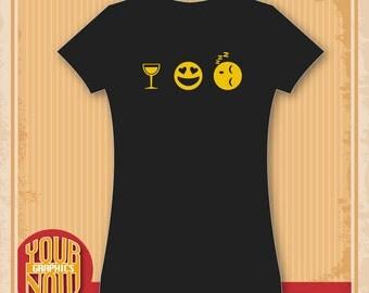 Women's Emoji Wine Snooze Shirt