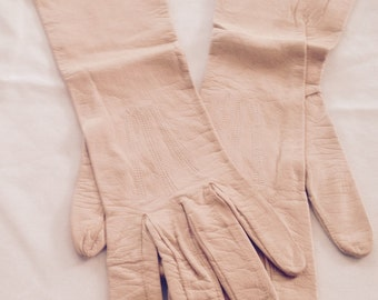 Vintage Leather Elbow Gloves