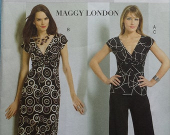 Butterick 4789 Maggy London Twist-Front Separates Sewing Pattern 16-22