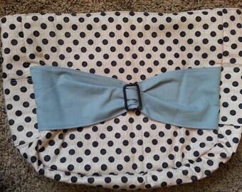 Blue Polka Dot Bow Purse