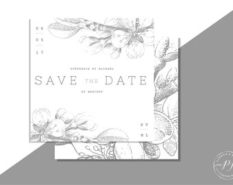 Printable Save the Date - PDF - BOTANIC GREY