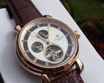 Watch, Bracelet Watch, Wrist Watch, atomatic, Genuine Leather