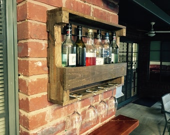 Bottle and glass rack