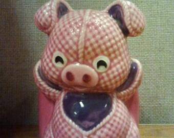 Vintage Lefton Pig Planter