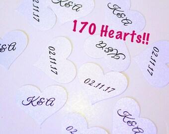Personalized Bridal Shower Confetti, Wedding Date Confetti, Initials Confetti, Wedding Confetti, Customized Confetti,Valentine' Day Confetti