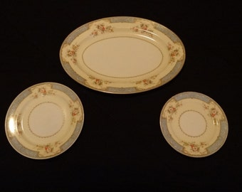 3 Piece Set of Noritake Blue Dawn 622 China Made in Japan