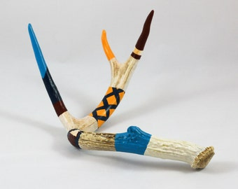 Painted Deer Antler - Spanish Flair