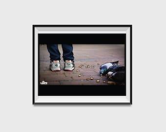 Staple x New Balance 575 White Pigeon Illustration - A2 print 1 OF 1 - Sneakerhead Hypebeast Streetwear Poster
