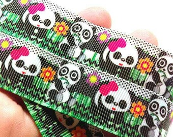 Kawaii panda ribbon