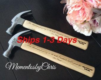 """Shop """"engraved hammer"""" in Weddings"""