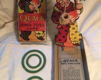 SALE! Vintage Quack Ring Toss Game