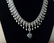 SALE - Helm and Byzantine Chainmaille Necklace - 15% OFF