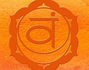 Chakra art Svadhishthana 2nd Chakra Meditation symbol