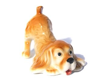 SPANIEL Porcelain figurine Dog High-quality hand painted Souvenirs Video preview