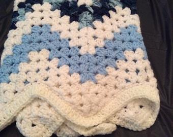 Baby Boy Crochet Blanket