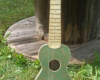 The Serenader green ukulele
