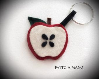 Felt Keychain Apple