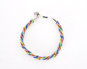 Pride Twist Bracelet (Silver)