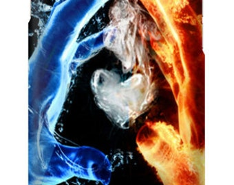 Water, Fire and love Phone Case