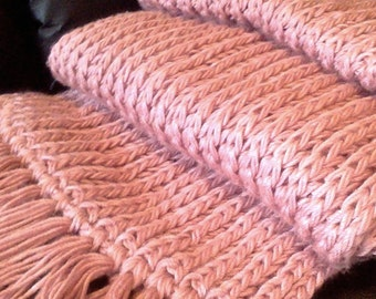 Extra Long Hand Knitted Scarf