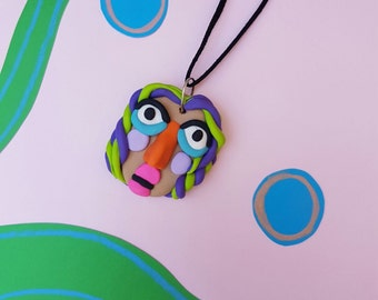 Funky Face Necklace