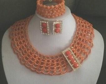 peach angels skin classy jewelry set