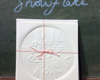 Hand made embossed paper greeting cards.