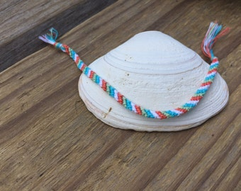Small Diagonal Stripe Friendship Bracelet - Customized