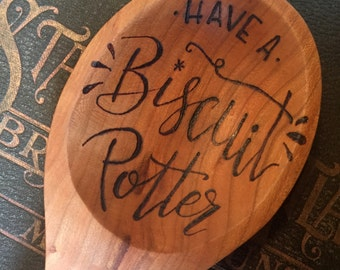 Have a Biscuit Potter - Wooden Spoon - Cherry - Handmade