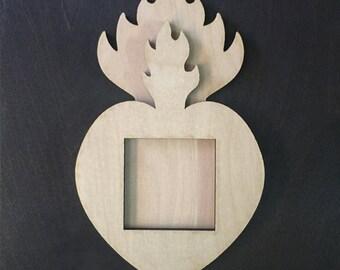 Sacred Heart Wood Nicho