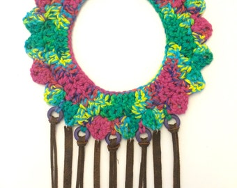 Annestral Woven Necklace -Crochet Necklace-