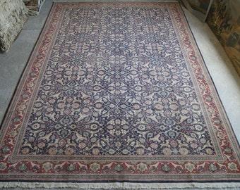 9'x14' Hereke Carpet Rug , Antique Large Mansion Carpet , 1800s Carpet