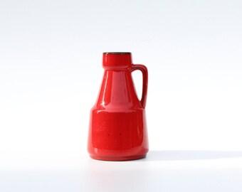 Retro red vase with handles