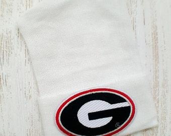 Newborn hospital hat- Georgia Bulldogs, UGA baby boy or girl, newborn hospital hat, Go Dawgs baby hat, newborn hat, baby beanie