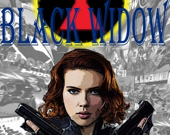 Black Widow from the Avengers 8.5x11 inch Photo Print