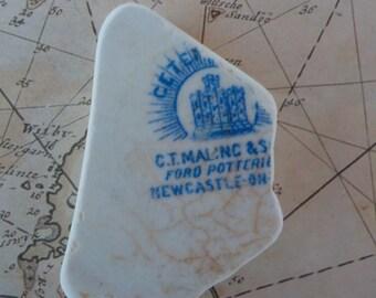 Old beach pottery- Genuine Sea pottery  -  English Pottery piece