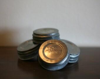 Zinc Jar Caps- Set of 4