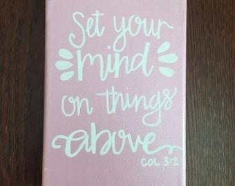 5x7 Scripture Canvas