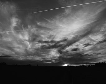 Black and White Cloudy Sky