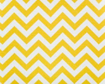 Premier Prints Zigzag Corn Yellow Slub Fabric by the Yard - Ready to ship