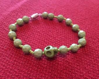 Green skull bracelet