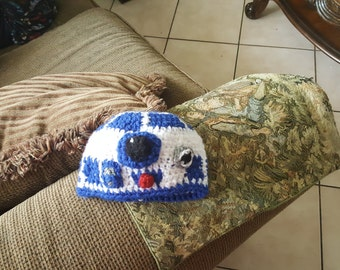 Starwars custom crochet r2 or bb8 beanie