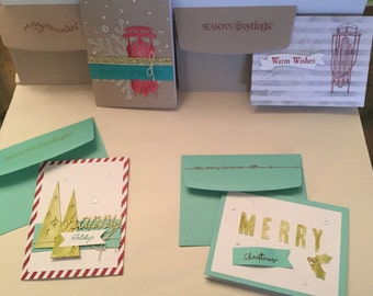 Set of 4 Holiday Cards with matching envelopes