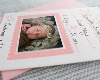 Letterpress Fill-in Baby Birth Announcement