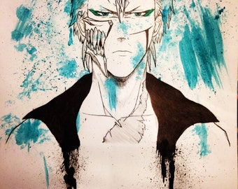 Grimmjow Watercolour painting