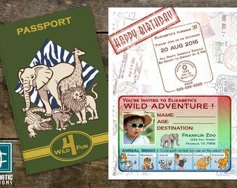 SAFARI INVITATION, safari, zoo, animals, passport, kids, themed, birthday, party, invitation, cards, printable, carismaticcreations
